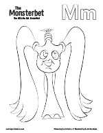 The Monsterbet Coloring Page Letter M