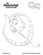The Monsterbet Coloring Page Letter Q
