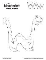 The Monsterbet Coloring Page Letter W