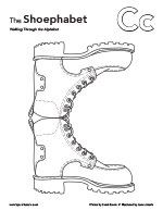 The Shoephabet Coloring Page Letter C