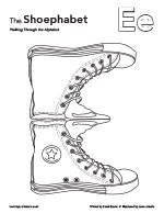 The Shoephabet Coloring Page Letter E