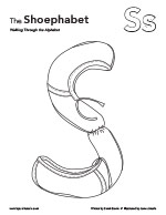 The Shoephabet Coloring Page Letter S